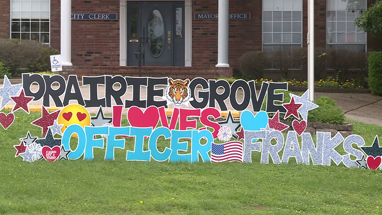 Watch: Parade held for Prairie Grove officer returning home after being shot on duty