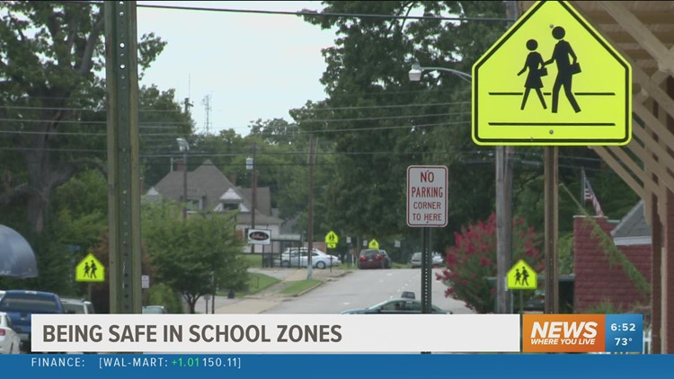 Driving safely in school zones