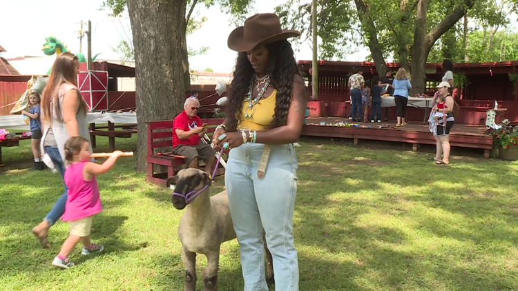 Arkansas' first Black rodeo queen spent her Saturday teaching the importance of farm animals to youth