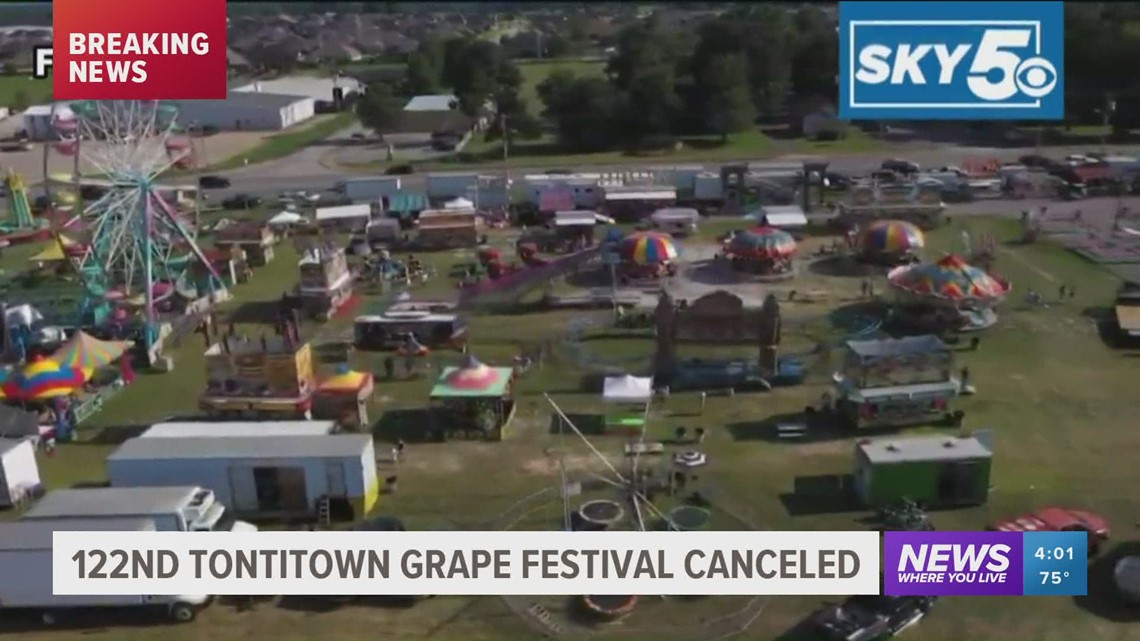 122nd Tontitown Grape Festival canceled due to pandemic