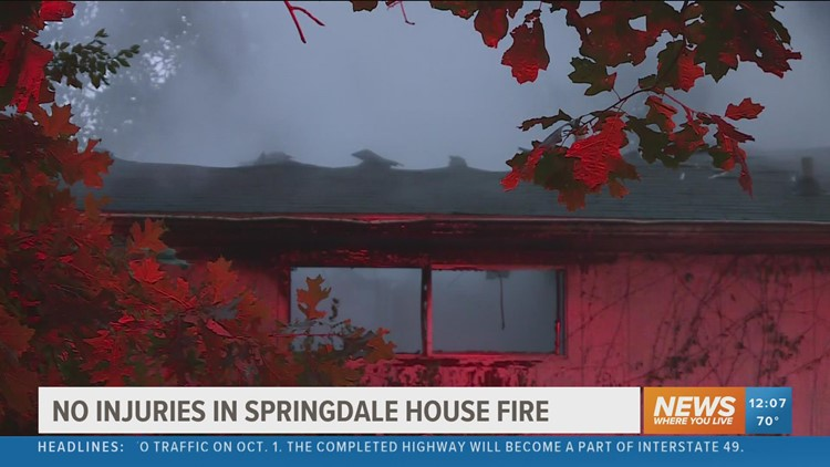 No injuries reported after Springdale house fire