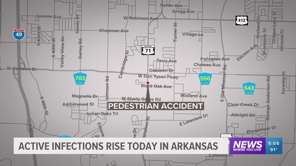 Pedestrian struck in Springdale on June 2 still hospitalized