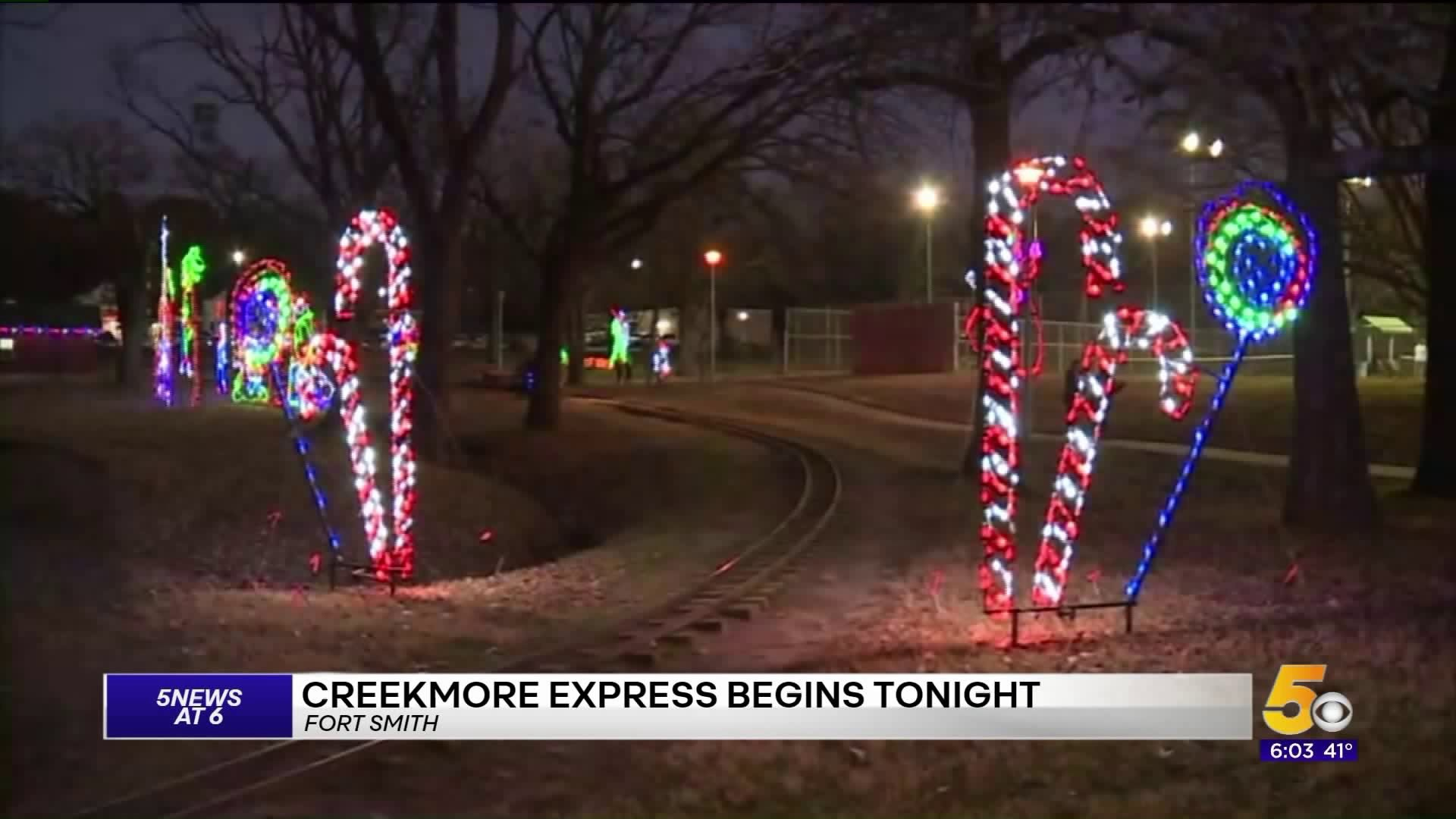 Fort Smith Christmas Lights 2020 Holiday Express Lights At Creekmore Park Opens Tonight