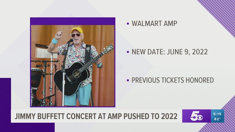 Jimmy Buffett AMP concert pushed to 2022