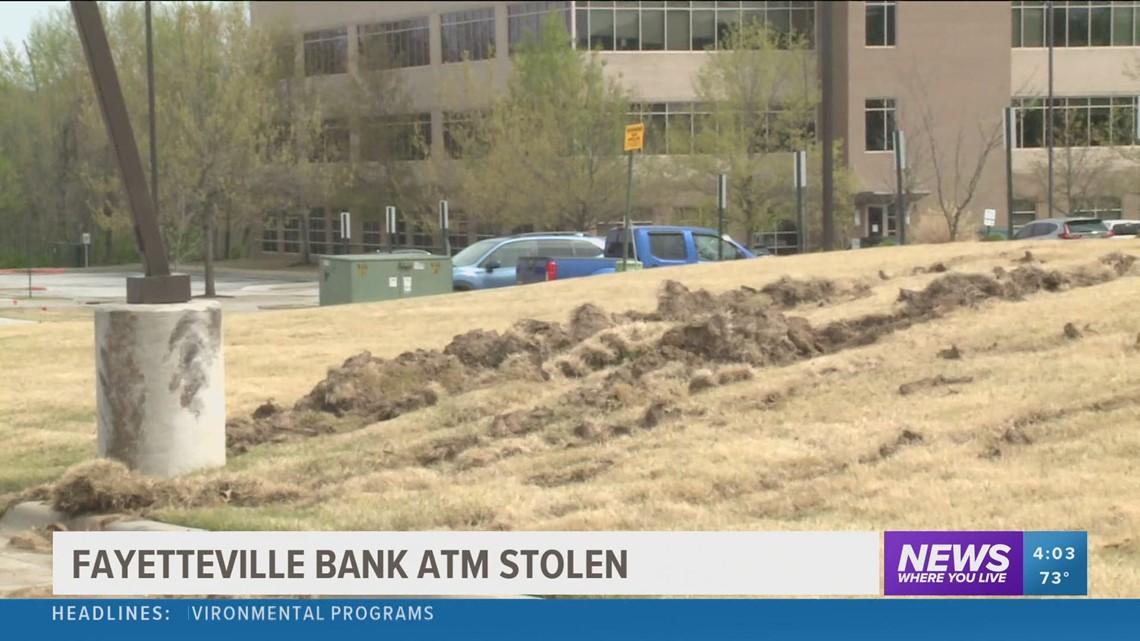 Fayetteville bank ATM stolen