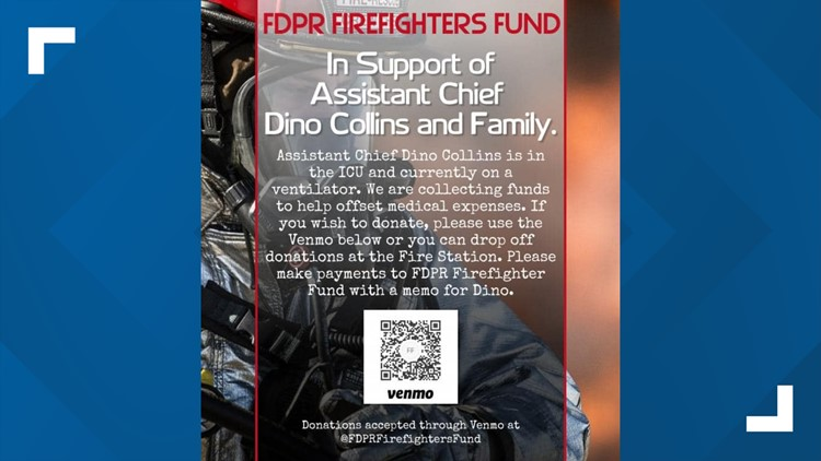 Pea Ridge Fire Dept. taking donations for assistant chief in ICU