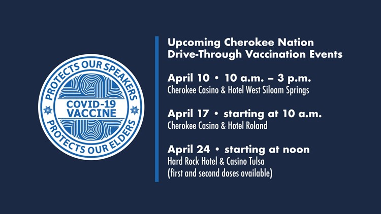 Cherokee Nation to host drive-through vaccination events throughout the month