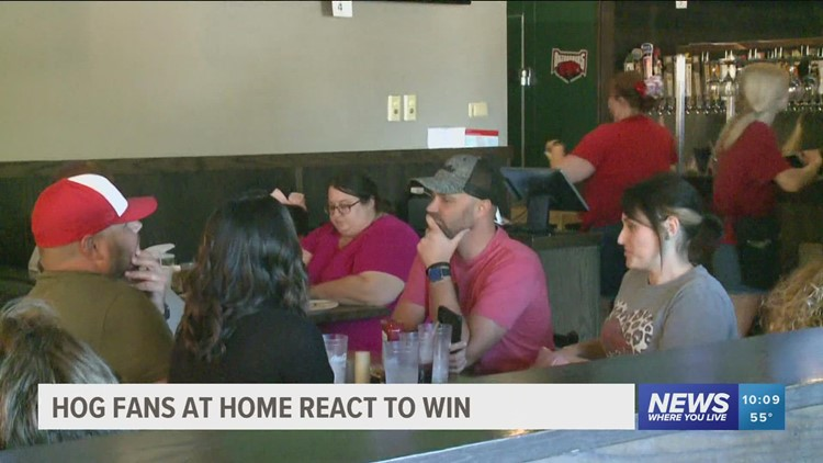Locals host watch parties as Hogs defeat Aggies in Arlington