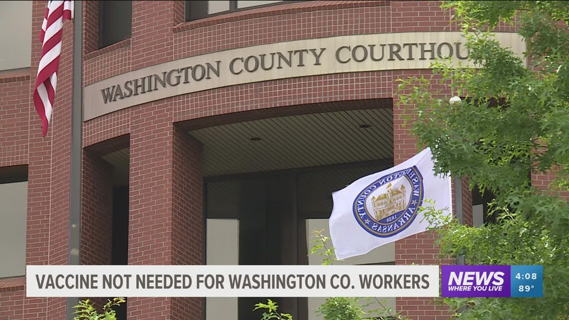 Washington County won't require COVID-19 vaccine, negative test for employees