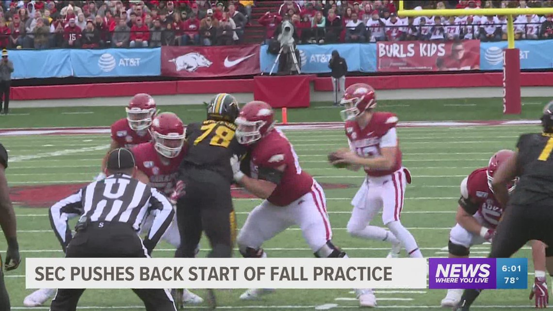 SEC Pushes Back Start of Fall Practice