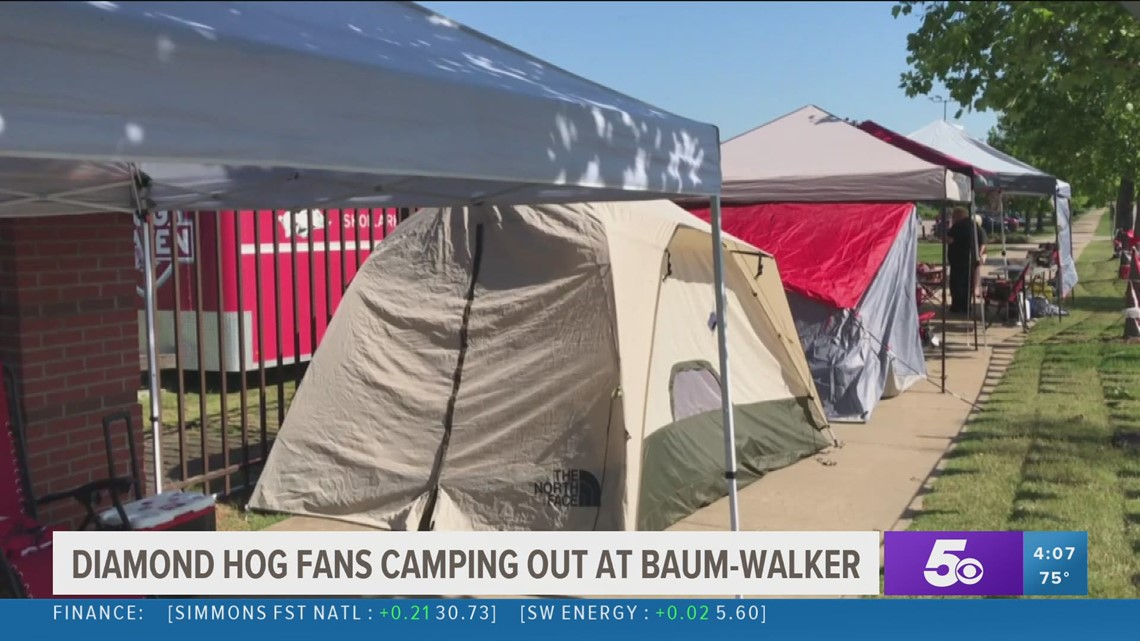 Razorback baseball fans already lined up for first regional game