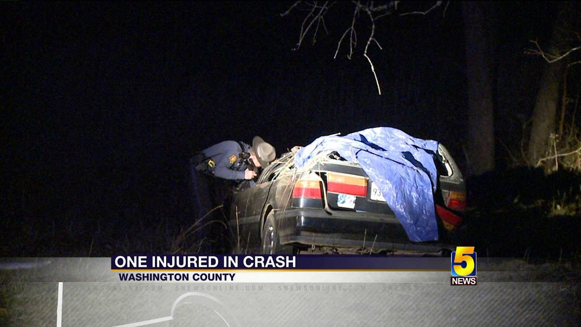 1 Hospitalized After Car Hits Tree In Washington County