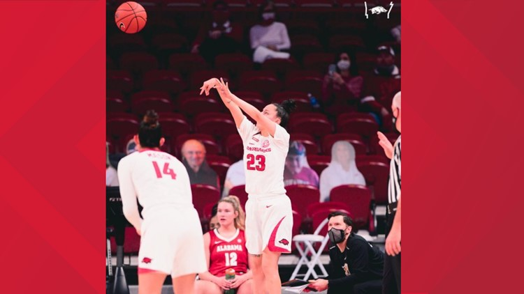 #16 Arkansas sends seniors out with a win
