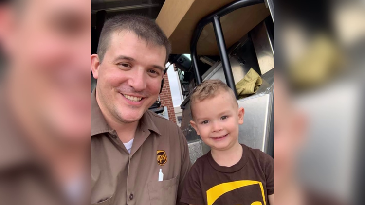4-year-old boy in LeFlore County forms special bond with UPS driver