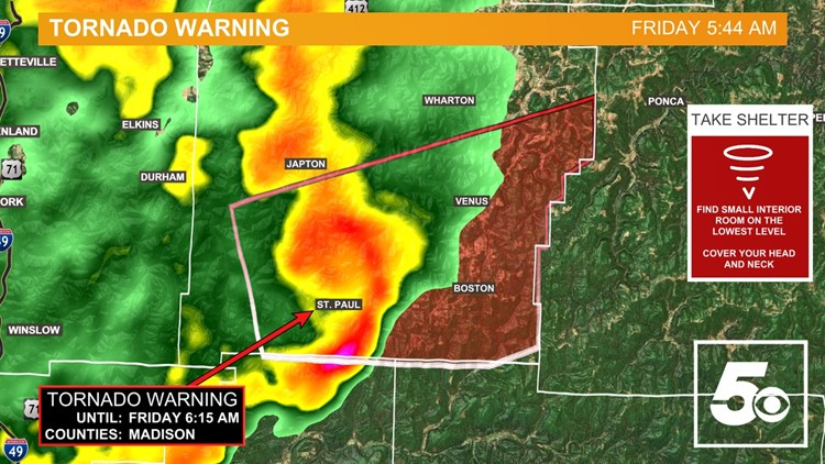 National Weather Service confirms EF-1 tornado between Washington & Madison Counties