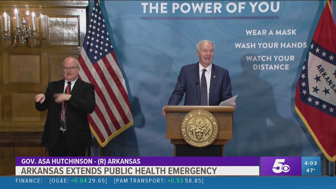 Arkansas extends public health emergency