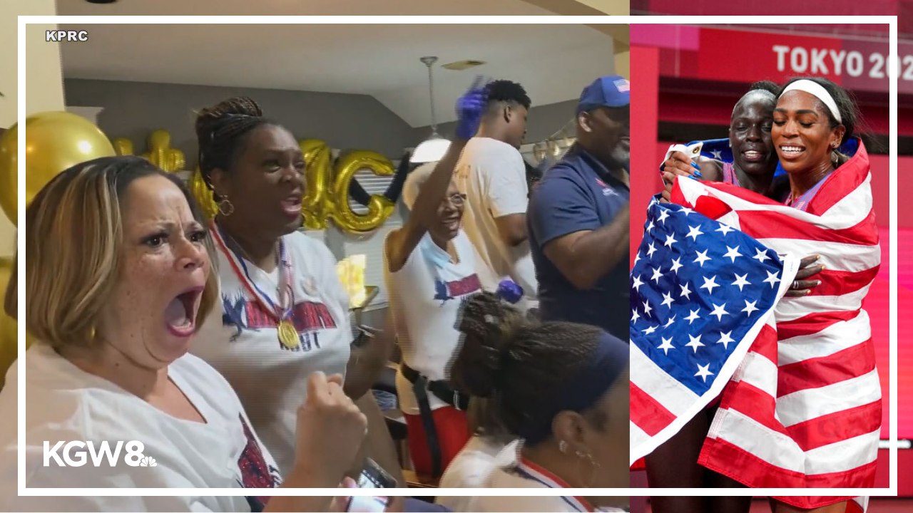 Watch Raevyn Rogers' family react to her bronze medal win