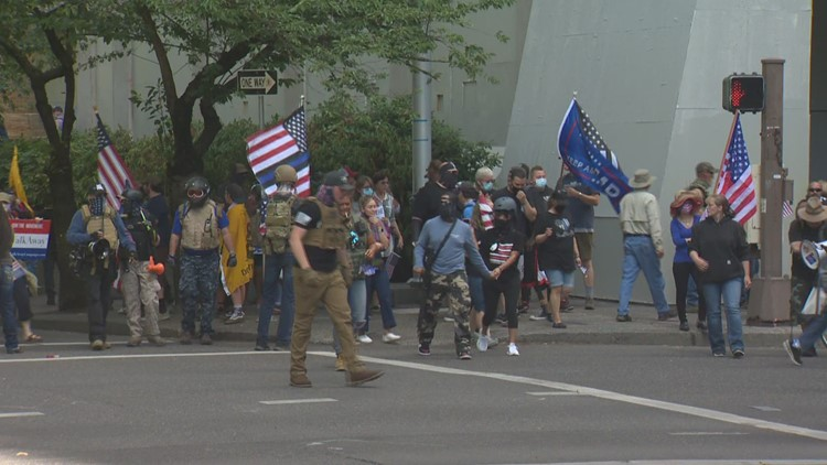 Reaction comes after Portland police have little presence at dueling protests