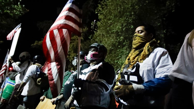 Calm night of protests in Portland after Oregon State Police step in for federal officers