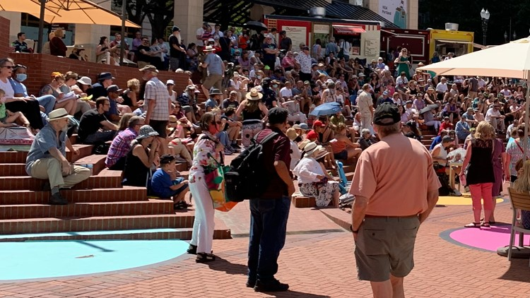 City of Portland promotes downtown with a reopening celebration