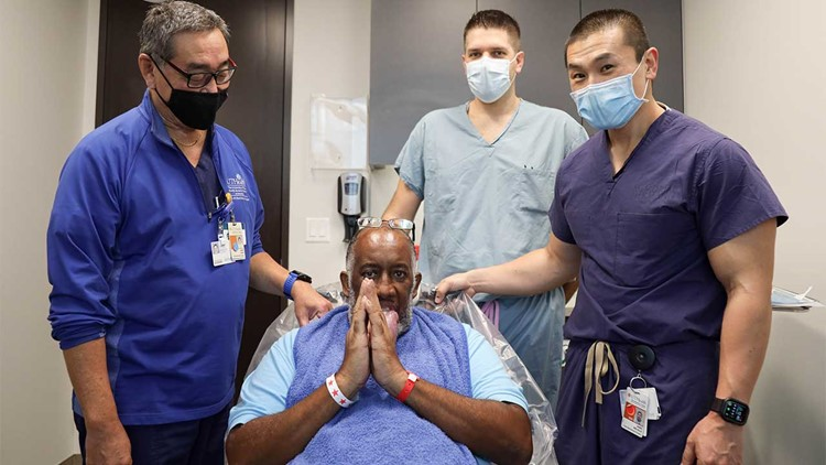 Man suffering from massively swollen tongue after COVID treatment comes to Houston for help