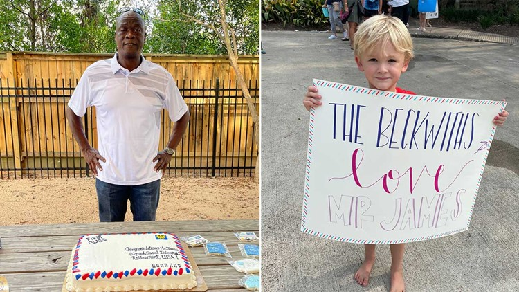 Neighborhood throws retirement party for beloved mailman