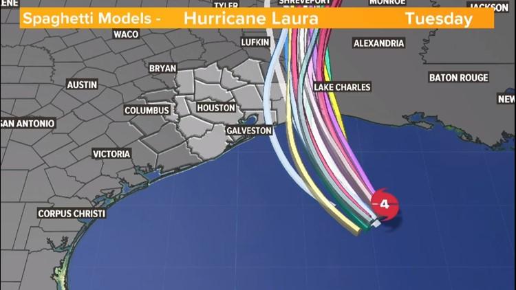 Hurricane Laura: Track and spaghetti models