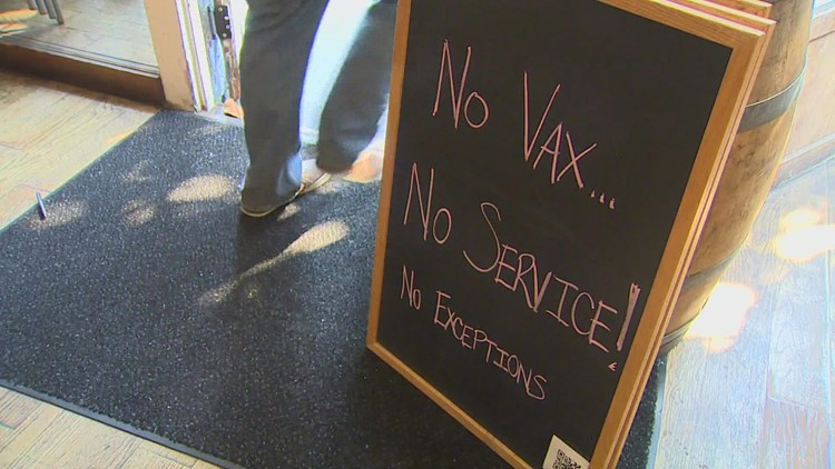 Many Seattle bars and restaurants now require proof of vaccination