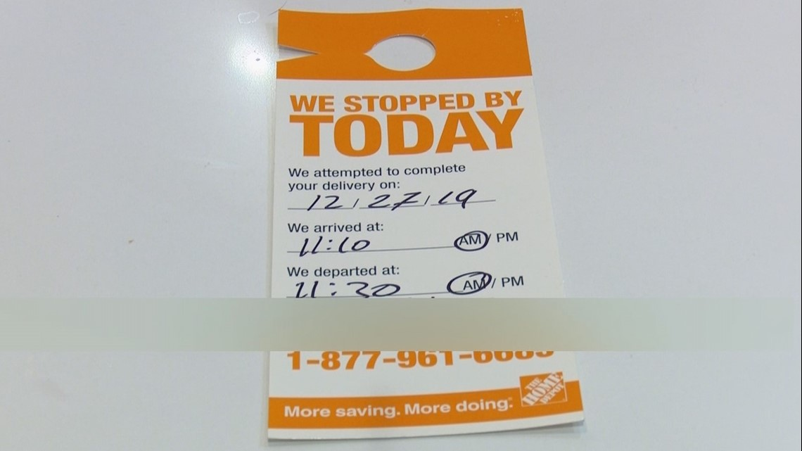 Profane Note Left On Missed Home Depot Delivery Slip In Seattle 5newsonline Com