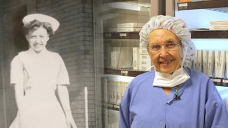 Oldest working nurse in the country retires from a hospital in Washington