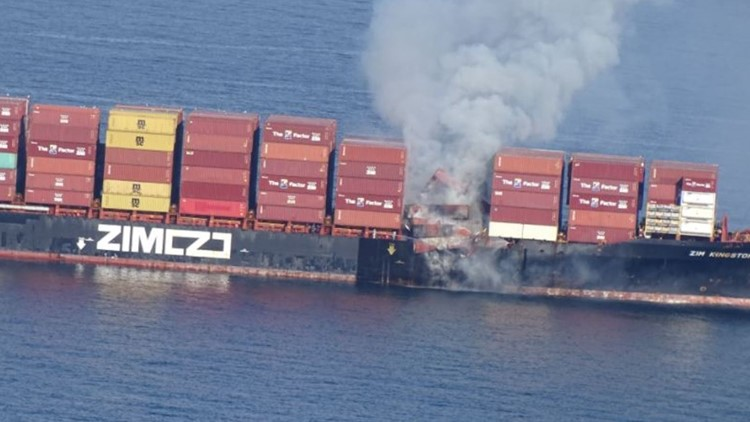 Fire 'stabilized' after breaking out on ship that lost 40 containers in Strait of Juan de Fuca