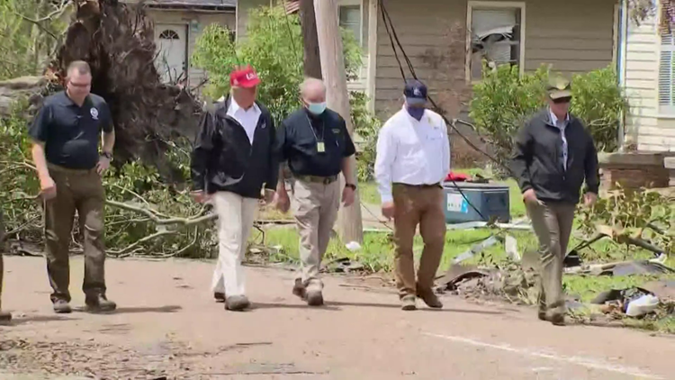 Trump surveys Hurricane Laura damage in post-convention trip to Louisiana, Texas