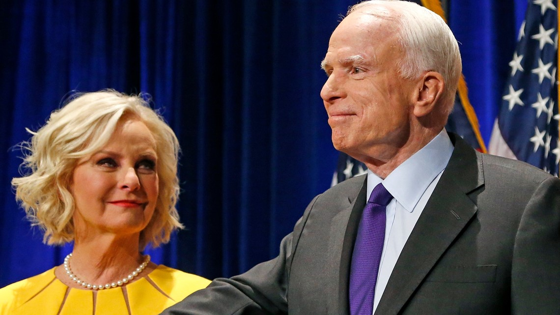 John McCain's widow, Cindy McCain, endorses Joe Biden