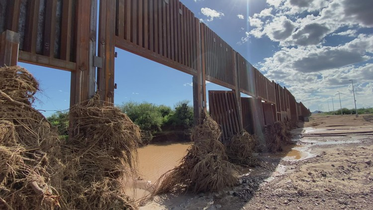 9 steel gates of Arizona's border wall ripped off by monsoon storms; 5 completely missing