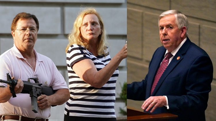 Missouri governor pardons couple who pointed guns at protesters