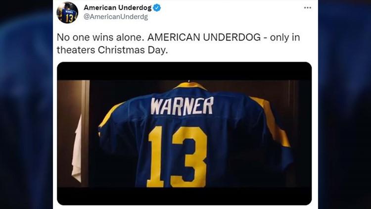 Watch: First trailer for Kurt Warner biopic 'American Underdog' released
