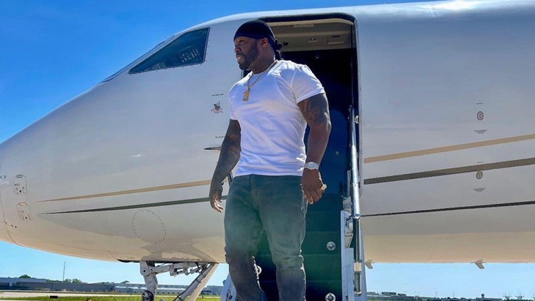 Rapper 50 Cent stops in Little Rock to promote new liquor
