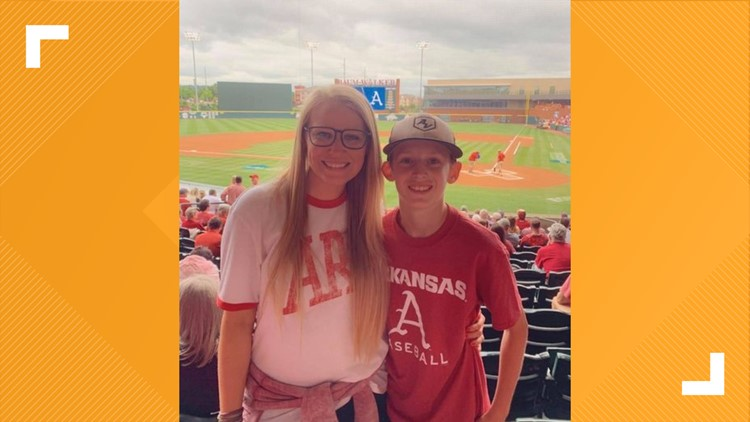 Woman gives boy home plate Razorback tickets on his 13th birthday