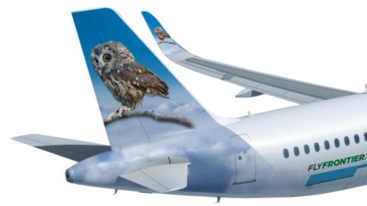 Rockefeller Christmas tree owl honored with Frontier Airlines tail
