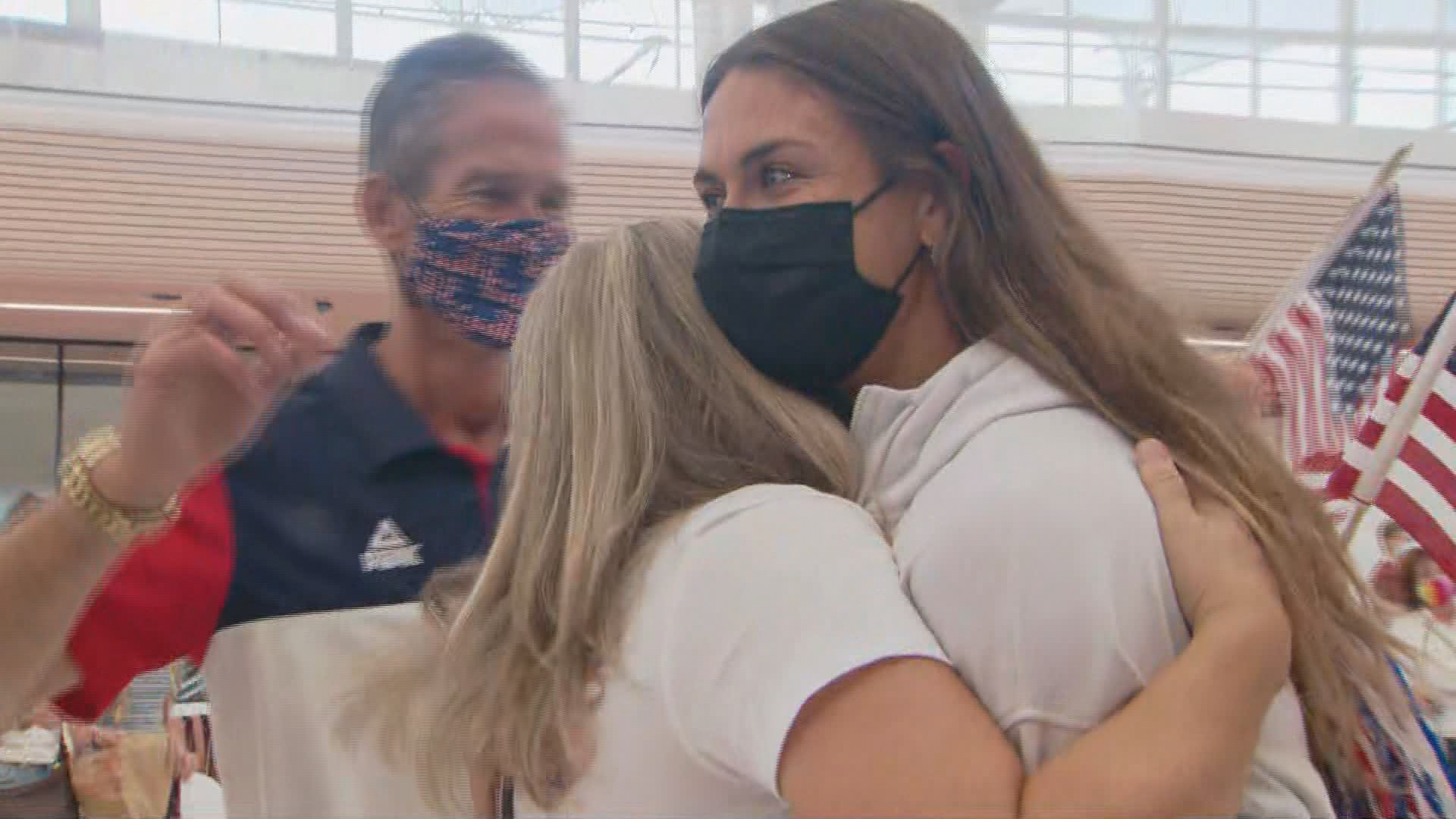 WATCH: Valarie Allman returns to Denver with Olympic gold medal