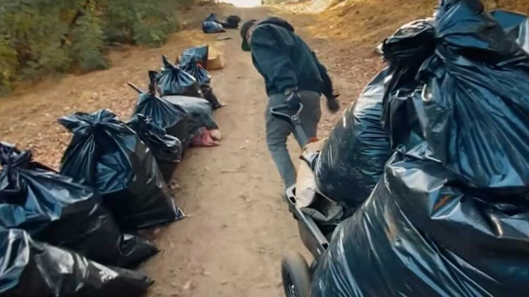 California man bags 9,200 pounds of trash to cap off 2020