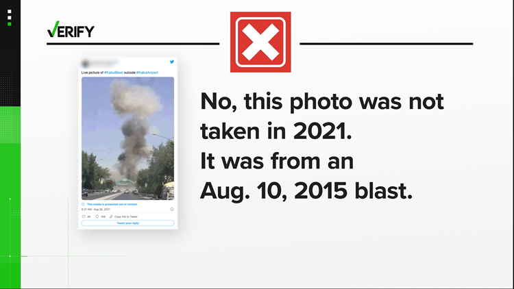 No, these viral posts were not of the explosion at the Kabul airport in Afghanistan.