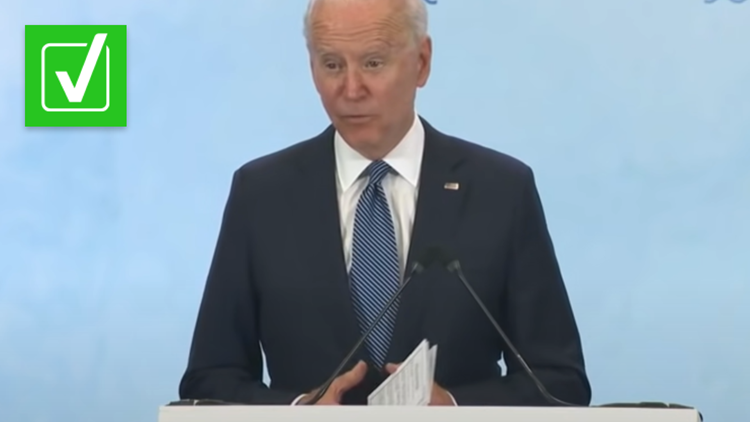 Yes, President Joe Biden held note cards at a press conference, but it's not uncommon