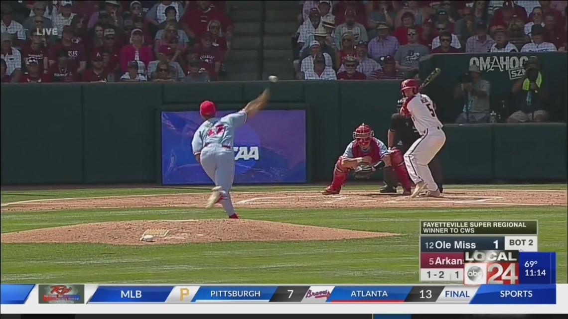 Rebels vs Razorbacks baseball June 10, 2019