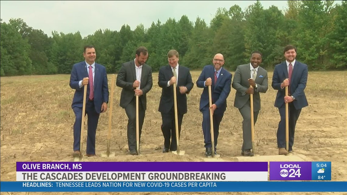 Mississippi Gov. Tate Reeves stops in Olive Branch for groundbreaking