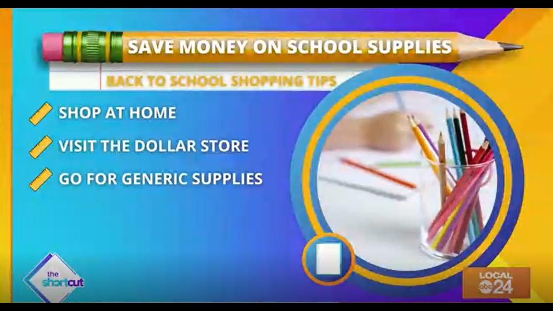 School supplies saving tips