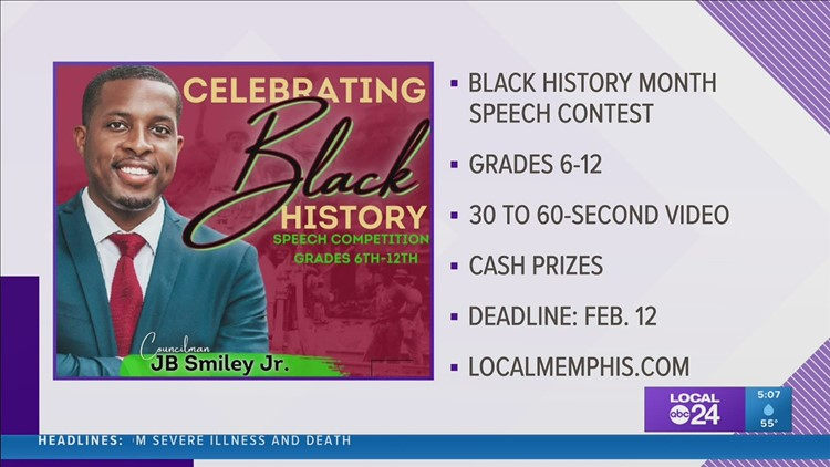 Councilman Smiley is hosting a student speech contest honoring Black History Month