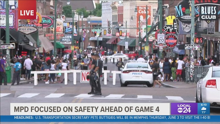 Heavy Memphis Police presence expected again downtown for Memphis Grizzlies playoff game