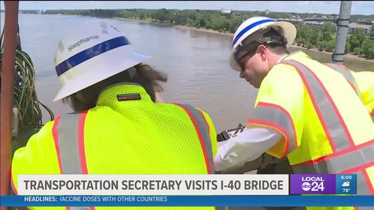 U.S. Transportation Secretary Pete Buttigieg in Memphis Thursday to update I-40 bridge construction