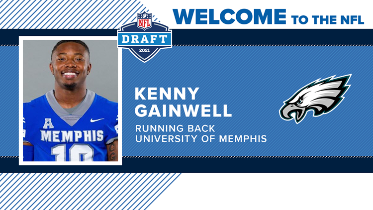 Eagles select Memphis RB Kenneth Gainwell in 5th round of NFL Draft